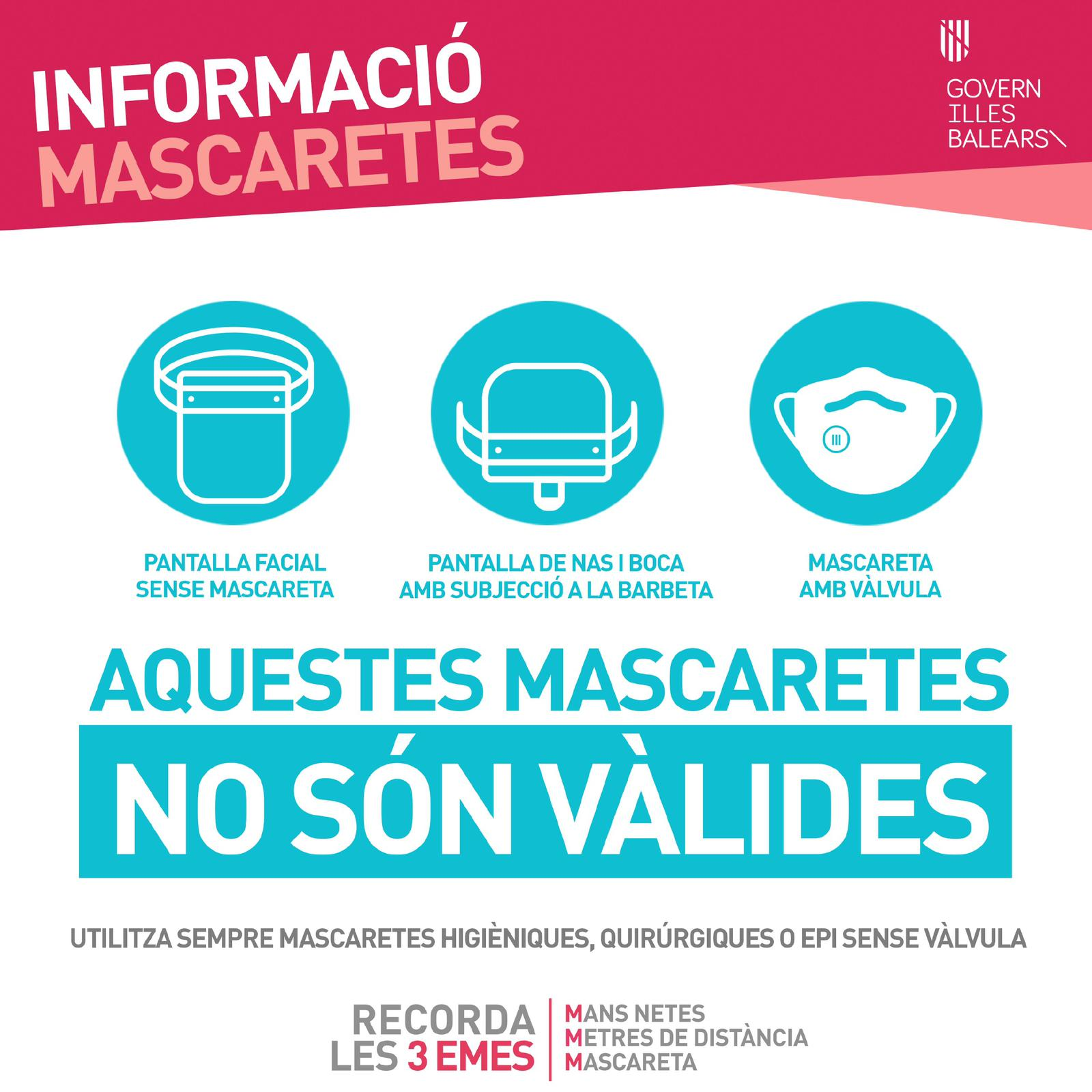 ESTAS MASCARILLAS NO SON VÁLIDAS