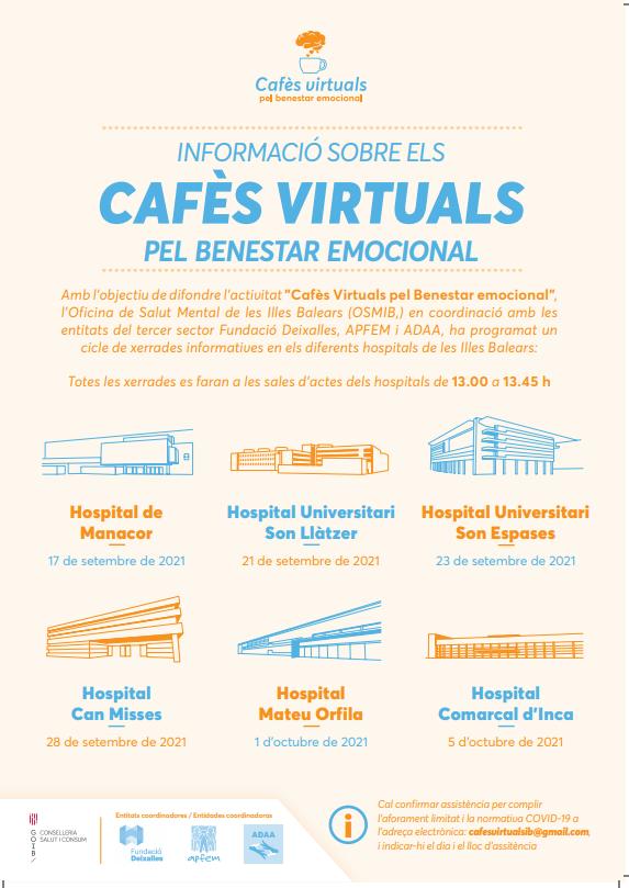 'Cafès Virtuals' un espai per a afavorir el benestar emocional
